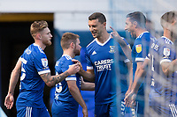 Team mates congratulate goalscorer Teddy Bishop of Ipswich Town during Ipswich Town vs Wigan Athletic, Sky Bet EFL League 1 Football at Portman Road on 13th September 2020
