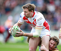 PICTURE BY CHRIS MANGNALL /SWPIX.COM...Rugby League - Super League  - St Helens Saints v Wigan Warriors  - Langtree Park, St Helens, England  - 06/04/12... St Helens Michael Shenton.