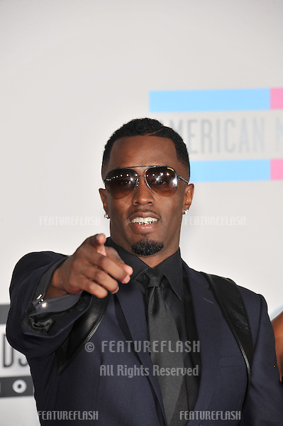 Sean P. Diddy Combs at the 2010 American Music Awards at the Nokia Theatre L.A. Live in downtown Los Angeles..November 21, 2010  Los Angeles, CA.Picture: Paul Smith / Featureflash