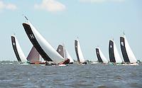 ZEILEN: SKS Skûtsjesilen 2014, Skûtsje Gerben van Manen - Heerenveen, schipper Alco Reijenga, ©foto Martin de Jong