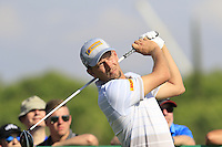 Marcel Siem (GER) tees off the 10th tee during Thursday's Round 1 of the 2016 Portugal Masters held at the Oceanico Victoria Golf Course, Vilamoura, Algarve, Portugal. 19th October 2016.<br /> Picture: Eoin Clarke | Golffile<br /> <br /> <br /> All photos usage must carry mandatory copyright credit (&copy; Golffile | Eoin Clarke)