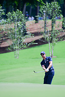 Henrik Stenson (SWE) chips on to 1 during Saturday's round 3 of the PGA Championship at the Quail Hollow Club in Charlotte, North Carolina. 8/12/2017.<br /> Picture: Golffile | Ken Murray<br /> <br /> <br /> All photo usage must carry mandatory copyright credit (&copy; Golffile | Ken Murray)