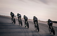 TTT training at dawn at the Circuito de Almeria Fans <br /> <br /> Michelton-Scott training camp in Almeria, Spain<br /> february 2018