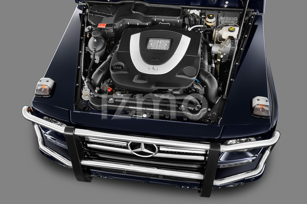 2013 Mercedes G Class High angle engine SUV Stock Photo