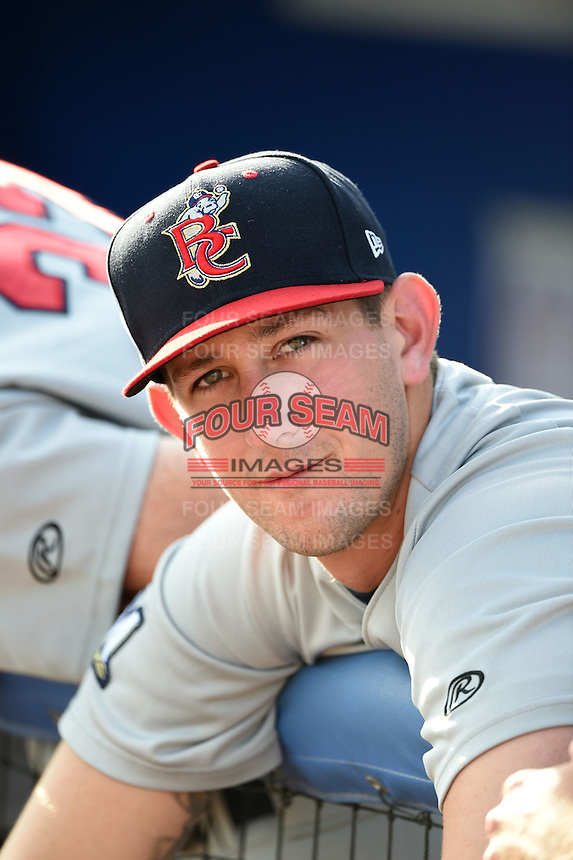 Brevard County Manatees pitcher Clint Terry (26) before a game against the Dunedin Blue Jays on April 23, 2015 at Florida Auto Exchange Stadium in Dunedin, Florida.  Brevard County defeated Dunedin 10-6.  (Mike Janes/Four Seam Images)