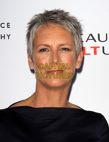 JAMIE LEE CURTIS .at The opening of Beauty Culture - a photographic exploration of how feminine beauty is defined, challenged and revered in modern society held at Annenberg Space for Photography in Century City, California, USA,.May 19th 11..portrait headshot black  navy blue .CAP/ADM/KB.©Kevan Brooks/AdMedia/Capital Pictures.