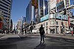 Dundas Square considered the center of downtown Toronto, October 12, 2010..Toronto is home to virtually all of the world's culture groups and is the city where more than 100 languages and dialects are spoken and it is considered one of the most multicultural city in the world. .Almost three-quarters of Torontonians aged 15 or older have direct ties to immigration.