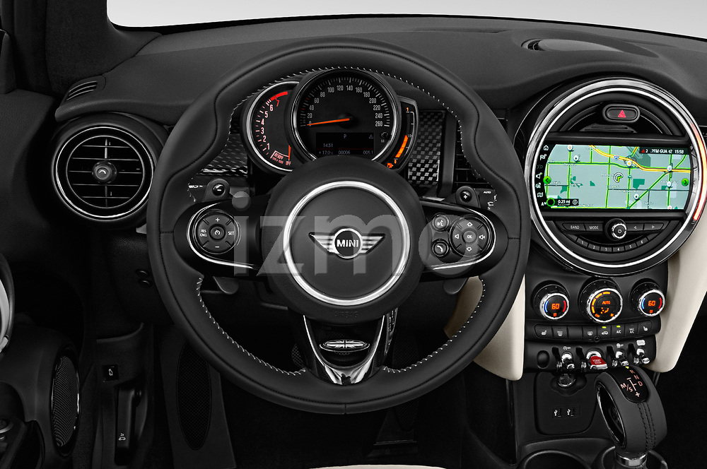 Car pictures of steering wheel view of a 2019 Mini Cooper Cooper S Chili 2 Door Convertible