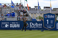 Alexander Levy (FRA) on the 1st tee during the Pro-Am of the Irish Open at LaHinch Golf Club, LaHinch, Co. Clare on Wednesday 3rd July 2019.<br /> Picture:  Thos Caffrey / Golffile<br /> <br /> All photos usage must carry mandatory copyright credit (© Golffile | Thos Caffrey)