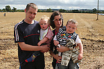 Keith, Nathan and Reuben Kenny and Hilary Colfer at the Combines for Charity Guinness Book of World Records Attempt...Photo NEWSFILE/Jenny Matthews.(Photo credit should read Jenny Matthews/NEWSFILE)....This Picture has been sent you under the condtions enclosed by:.Newsfile Ltd..The Studio,.Millmount Abbey,.Drogheda,.Co Meath..Ireland..Tel: +353(0)41-9871240.Fax: +353(0)41-9871260.GSM: +353(0)86-2500958.email: pictures@newsfile.ie.www.newsfile.ie.FTP: 193.120.102.198.