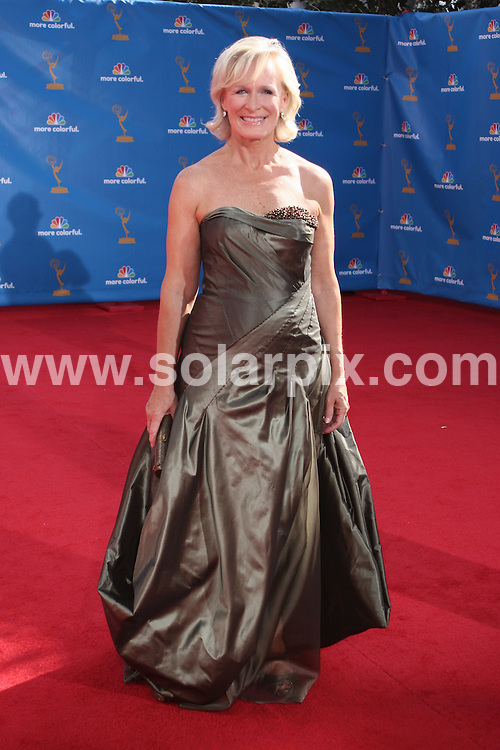 **ALL ROUND PICTURES FROM SOLARPIX.COM**.**SYNDICATION RIGHTS FOR UK, AUSTRALIA, DENMARK, PORTUGAL, S. AFRICA, SPAIN & DUBAI (U.A.E) & ASIA (EXCLUDING JAPAN) ONLY**.2010 Primetime Emmy Awards - Arrivals, Nokia Theatre LA Live, CA, USA,  27 August 2010.This pic: Glenn Close..JOB REF: 12007  PHZ boddi   DATE: 29_08_2010.**MUST CREDIT SOLARPIX.COM OR DOUBLE FEE WILL BE CHARGED**.**MUST NOTIFY SOLARPIX OF ONLINE USAGE**.**CALL US ON: +34 952 811 768 or LOW RATE FROM UK 0844 617 7637**