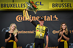 Mike Theunison (BEL) Team Jumbo-Visma wins Stage 1 of the 2019 Tour de France running 194.5km from Brussels to Brussels, Belgium. 6th July 2019.<br /> Picture: ASO/Alex Broadway | Cyclefile<br /> All photos usage must carry mandatory copyright credit (© Cyclefile | ASO/Alex Broadway)