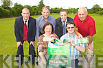 Kerry Captain Darren O'Sullivan launches the Killarney Legion draw to help develop the new plot of land the have purchased l-r: Justin Healy, Sean Murphy, Nora Kissane, Darren O'Sullivan, Pat Kissane and Donal Carroll