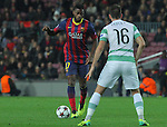 11.12.2013 Barcelona, Spain. UEFA Champions League, Group H Matchday 6. Picture show Alexandre Song  in action during game between FC Barcelona Against Celtic at Camp Nou