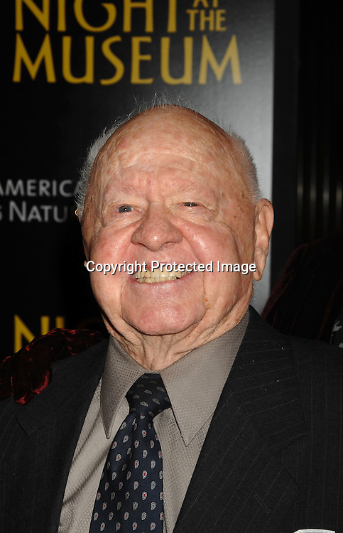 "Mickey Rooney..at The World Movie Premiere of ""Night At The Museum"" and the official launch of the Natural History Museum's sleeepover program on December 17, 2006 at The American Museum of Natural History in New York...Robin Platzer, Twin Images"