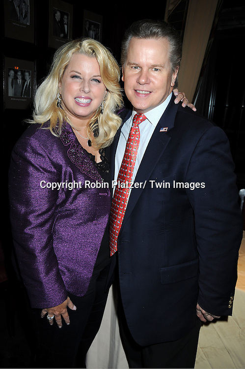 """Rita Cosby and husband Tomaczek Bednarek at her book signing for her new book """"All My Life""""  at The Friars Club in New York City on September 7, 2011."""