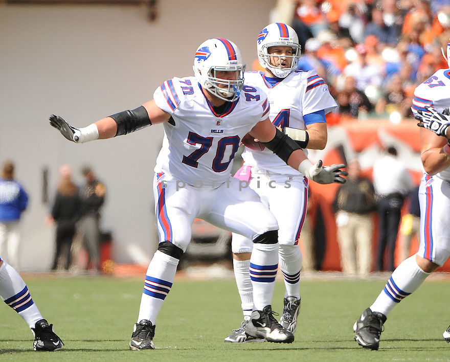 ERIC WOOD, of the Buffalo Bills, in action during the Bills game against the Cincinnati Bengals on October 2, 2011 at Paul Brown Stadium in Cincinnati, OH. The Bengals beat the Bills 23-20.