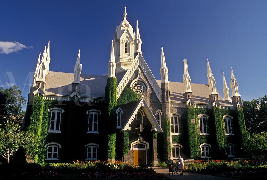 mormons, Salt Lake City, UT, Utah, Assembly Hall at Temple Square in Salt Lake City. The Church of Jesus Christ of Latter-day Saints.