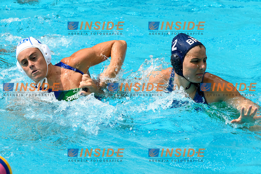 COTTI Aleksandra ITA, ABLA Diana BRA <br /> Rio de Janeiro 09-08-2016 Maria Lenka Aquatics Center  <br /> Waterpolo Italy Brazil Women ITA - BRA <br /> Foto Andrea Staccioli/Deepbluemedia/Insidefoto