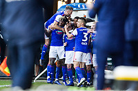 The Ipswich players celebrate the opening goal in the corner of the pitch during Ipswich Town vs Preston North End, Sky Bet EFL Championship Football at Portman Road on 3rd November 2018
