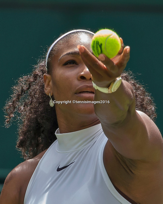 London, England, 28 june, 2016, Tennis, Wimbledon, Serena Williams (USA) <br />