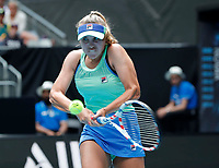 26th January 2020; Melbourne Park, Melbourne, Victoria, Australia; Australian Open Tennis, Day 7; Sofia Kenin of USA returns during her match against Coco Gauff of USA