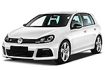 Front three quarter view of 2011 Volkswagen Golf R 5 Door Hatchback Stock Photo