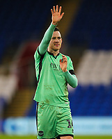 4th January 2020; Cardiff City Stadium, Cardiff, Glamorgan, Wales; English FA Cup Football, Cardiff City versus Carlisle; Gethin Jones of Carlisle United waves to fans at the end of the match  - Strictly Editorial Use Only. No use with unauthorized audio, video, data, fixture lists, club/league logos or 'live' services. Online in-match use limited to 120 images, no video emulation. No use in betting, games or single club/league/player publications
