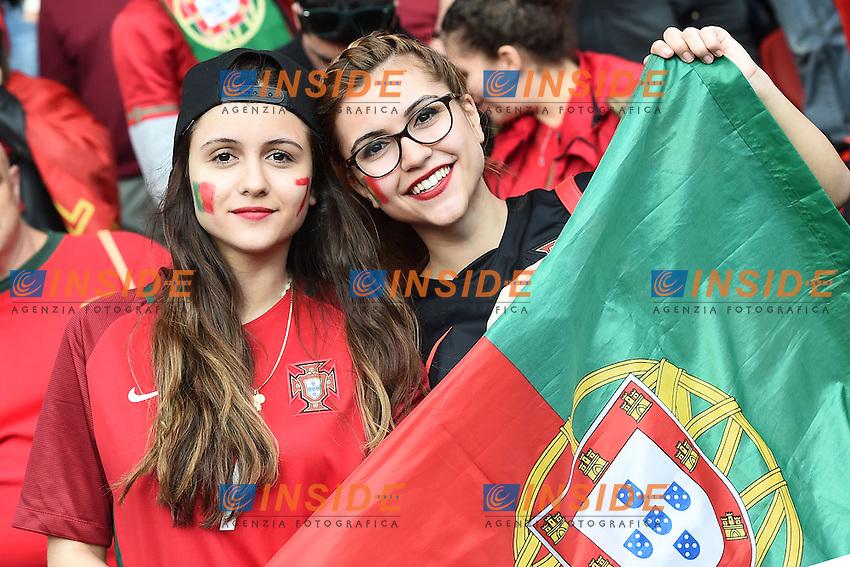tifosi Portogallo Fans Portugal <br /> Paris 18-06-2016 Parc Des Princes Football Euro2016 Portugal - Austria / Portogallo - Austria Group Stage Group F. Foto Matteo Gribaudi / Image Sport / Insidefoto