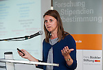"""Belgium, Brussels - April 16, 2015 -- European Dialogue 2015: 'Prosperity in Europe (only if we stop the growing inequality)', jointly held by Hans Böckler Foundation and ETUI (European Trade Union Institute) at 'The Hotel'; here, Workshop 2: Strong worker participation – competitive, sustainable companies; Isabelle Schömann, Senior Researcher, European Trade Union Institute (ETUI) on: The EU Commission's """"REFIT for Growth"""" agenda – sounds good, but fatal consequences for Europe's workers -- Photo © HorstWagner.eu"""