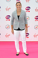 NON EXCLUSIVE PICTURE: PAUL TREADWAY / MATRIXPICTURES.CO.UK<br /> PLEASE CREDIT ALL USES<br /> <br /> WORLD RIGHTS<br /> <br /> Italian tennis player Sara Errani attending the WTA Pre Wimbledon Party, at London's Kensington Roof Gardens.<br /> <br /> 20th JUNE 2013<br /> <br /> REF: PTY 134225