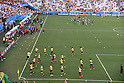 General view,<br /> JUNE 26, 2014 - Football / Soccer :<br /> Belgium and South Korea players warm up before the FIFA World Cup Brazil 2014 Group H match between South Korea 0-1 Belgium at Arena de Sao Paulo in Sao Paulo, Brazil. (Photo by SONG Seak-In/AFLO)
