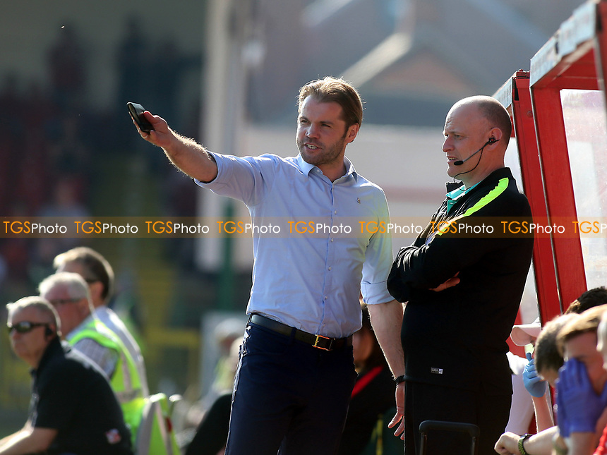 MK Dons Manager, Robbie Neilson during Swindon Town vs MK Dons, Sky Bet EFL League 1 Football at the County Ground on 8th April 2017