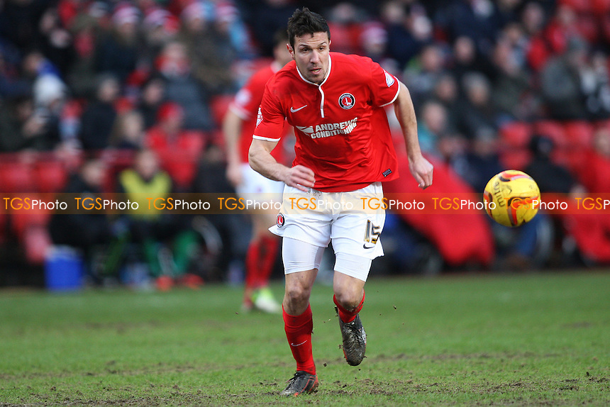 Richard Wood of Charlton Athletic - Charlton Athletic vs Birmingham City - Sky Bet Championship Football at the Valley, London - 08/02/14 - MANDATORY CREDIT: George Phillipou/TGSPHOTO - Self billing applies where appropriate - 0845 094 6026 - contact@tgsphoto.co.uk - NO UNPAID USE