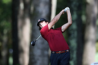 SAPPHIRE, NC - OCTOBER 01: Jack Parrott of the University of South Carolina tees off at The Country Club of Sapphire Valley on October 01, 2019 in Sapphire, North Carolina.