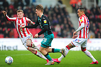 George Byers of Swansea City in action during the Sky Bet Championship match between Stoke City and Swansea City at the Bet 365 Stadium in Stoke-on-Trent, England, UK. Saturday 25 January 2020