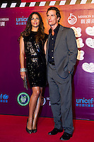 HAIKOU, CHINA - OCTOBER 29:  Hollywood actor Matthew McConaughey and his wife Camila Alves attend red carpet during day three of the Mission Hills Start Trophy tournament at Mission Hills Resort on October 29, 2010 in Haikou, China.  Photo by Victor Fraile / studioEAST
