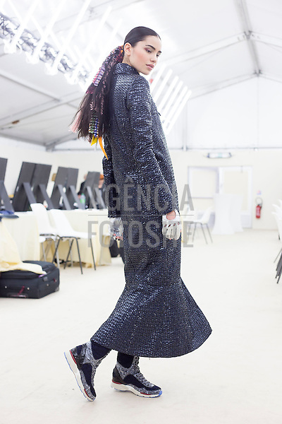 Paris, Franca – 02/2014 - Desfile de Chanel durante a Semana de moda de Paris - Inverno 2014.<br /> Foto: FOTOSITE