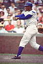 Chicago Cubs Ernie Banks (14) during a game from his 1965 season. at Wrigley Field in Chicago,IL.  Ernie Banks played all of his 18 seasons with the Chicago Cubs, was an 11-time All-Star, National League MVP in 1958, 1959 and was inducted to the Baseball Hall of Fame in 1977.(SportPics)