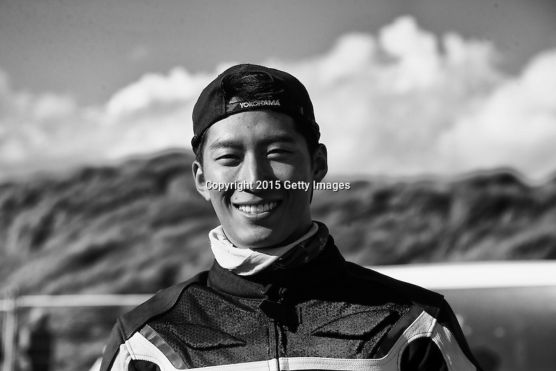 INVERCARGILL, NEW ZEALAND - NOVEMBER 27:  Chinese - Canadian actor Shawn Dou at the Indian Motorcycle NZ Beach Racing Champs during the 10th Anniversary of the 2015 Burt Munro Challenge at Oreti Beach on November 27, 2015 in Invercargill, New Zealand.  (Photo by Dianne Manson/Getty Images) *** Local Caption *** Shawn Dou