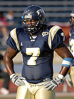Florida International University Golden Panthers (0-5, 0-2) football versus Arkansas State University Indians (2-2, 1-0) at Miami, Florida on Saturday, September 30, 2006.  The Indians defeated the Golden Panthers 31-6...Senior linebacker Keyonvis Bouie (7)