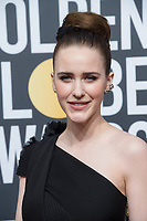 Nominated for BEST PERFORMANCE BY AN ACTRESS IN A TELEVISION SERIES &ndash; COMEDY OR MUSICAL for her role in &quot;The Marvelous Mrs. Maisel,&quot; actress Rachel Brosnahan attends the 75th Annual Golden Globes Awards at the Beverly Hilton in Beverly Hills, CA on Sunday, January 7, 2018.<br /> *Editorial Use Only*<br /> CAP/PLF/HFPA<br /> &copy;HFPA/Capital Pictures