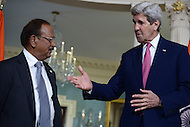 Washington, DC - March 30, 2016: U.S. Secretary of State John Kerry meets with Indian National Security Advisor Ajit Doval in the Treaty Room at the Department of State in the District of Columbia, March 30, 2016, one day ahead of the Nuclear Summit at the Washington Convention Center (Photo by Don Baxter/Media Images International)