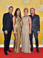 NASHVILLE, TN - NOVEMBER 1: Little Big Town on the Macy's Red Carpet at the 46th Annual CMA Awards at the Bridgestone Arena in Nashville, TN on Nov. 1, 2012. © mpi99/MediaPunch Inc. /NortePhoto