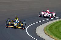 Verizon IndyCar Series<br /> Indianapolis 500 Carb Day<br /> Indianapolis Motor Speedway, Indianapolis, IN USA<br /> Friday 26 May 2017<br /> Sage Karam, Dreyer &amp; Reinbold Racing Chevrolet, Pippa Mann, Dale Coyne Racing Honda<br /> World Copyright: F. Peirce Williams