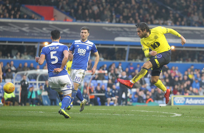 Blackburn Rovers Danny Graham scores his sides second goal <br /> <br /> Photographer Mick Walker/CameraSport<br /> <br /> The EFL Sky Bet Championship - Birmingham City v Blackburn Rovers - Saturday 23rd February 2019 - St Andrew's - Birmingham<br /> <br /> World Copyright © 2019 CameraSport. All rights reserved. 43 Linden Ave. Countesthorpe. Leicester. England. LE8 5PG - Tel: +44 (0) 116 277 4147 - admin@camerasport.com - www.camerasport.com