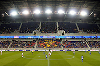 general view during second half. The New York Red Bulls defeated FC Dallas 2-1 during a Major League Soccer (MLS) match at Red Bull Arena in Harrison, NJ, on April 17, 2010.