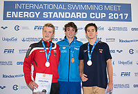 Youth Boys' 200m Butterfly <br /> BURDISSO Federico ITALY Gold Medal <br /> PLASIL Yannick GERMANY Silver Medal <br /> SIRE FIGUERAS Ferran SPAIN Bronze Medal <br /> Lignano Sabbiadoro 07-05-2017 Ge.Tur Complex <br /> Energy Standard Cup 2017 Nuoto<br /> Photo Andrea Staccioli/Deepbluemedia/Insidefoto