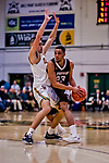 18 December 2018: St. Bonaventure University Bonnies Guard Jalen Poyser, a Junior from Malton, Ontario, in second-half action against the University of Vermont Catamounts at Patrick Gymnasium in Burlington, Vermont. The Catamounts defeated the Bonnies 83-76 in a double-overtime NCAA DI game. Mandatory Credit: Ed Wolfstein Photo *** RAW (NEF) Image File Available ***