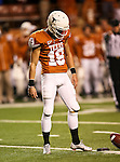 Texas Longhorns kicker Justin Tucker (19) practices beforethe Texas A & M vs. Texas Longhorns football game at the Darrell K Royal - Texas Memorial Stadium in Austin, Tx. Texas A & M defeats Texas 24 to 17....